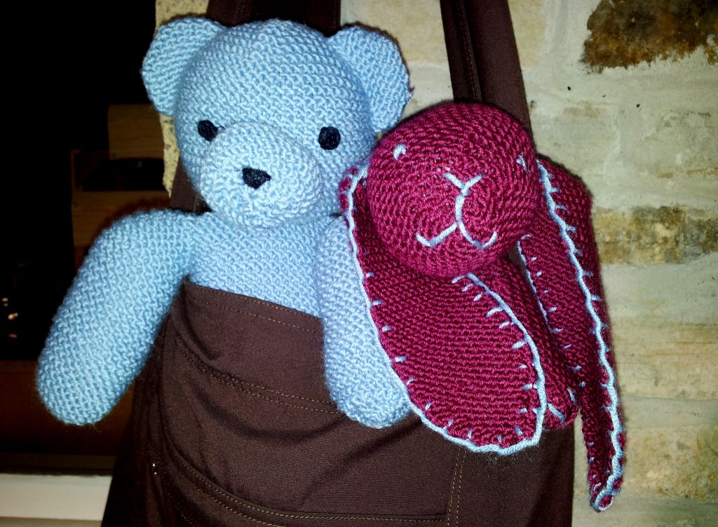 Knitted Bear and Rabbit