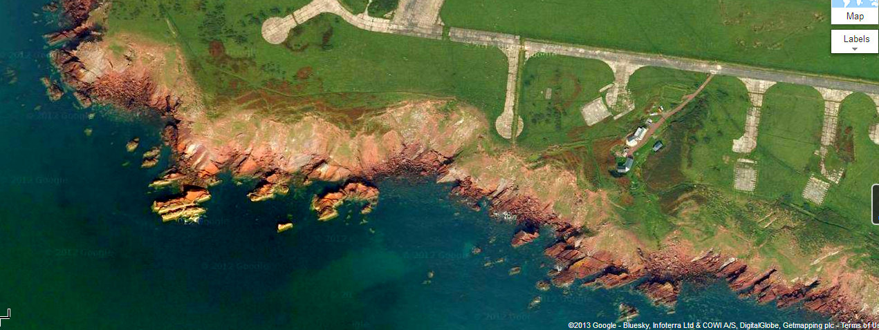 View from above the Pembrokeshire Coast