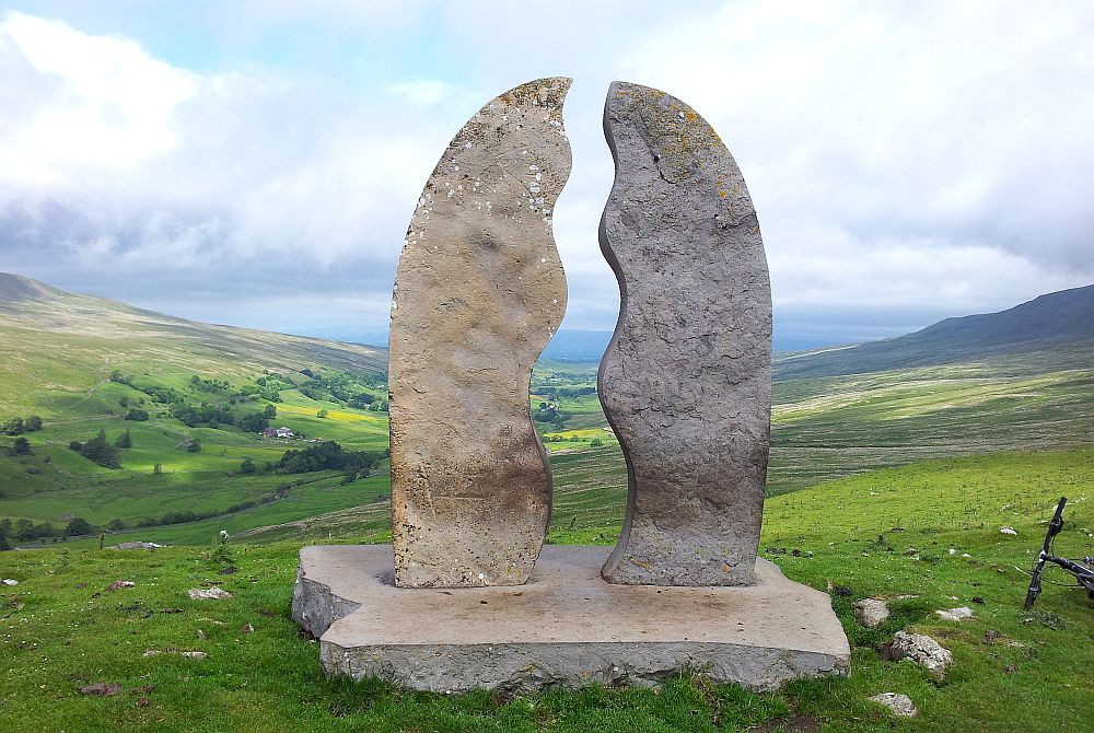 The 'Water Cut' head of the  Mallerstang Valley where the River Eden rises.