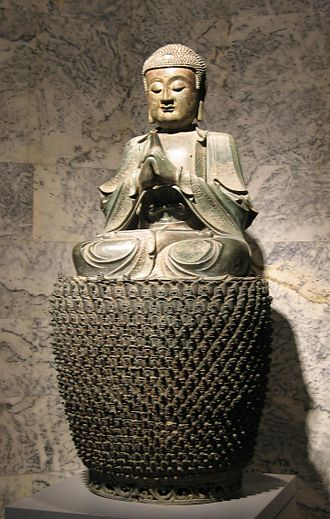 Vairochana Buddha on Lotus Throne