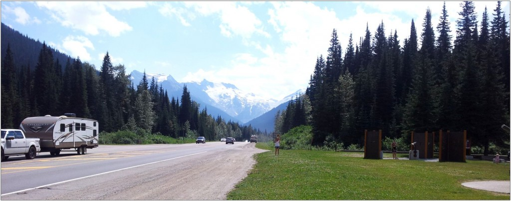 From Rogers Pass, Glacier National Park on Trans Canada Highway.