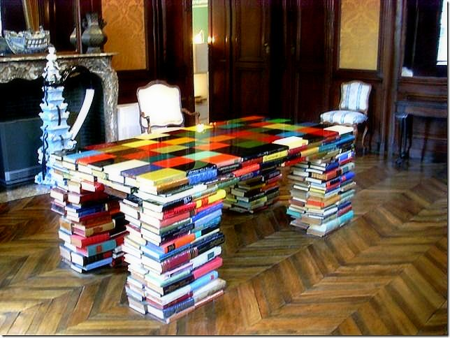 On display at the Museum of Fine Arts, Ghent Belgium. Functional books!