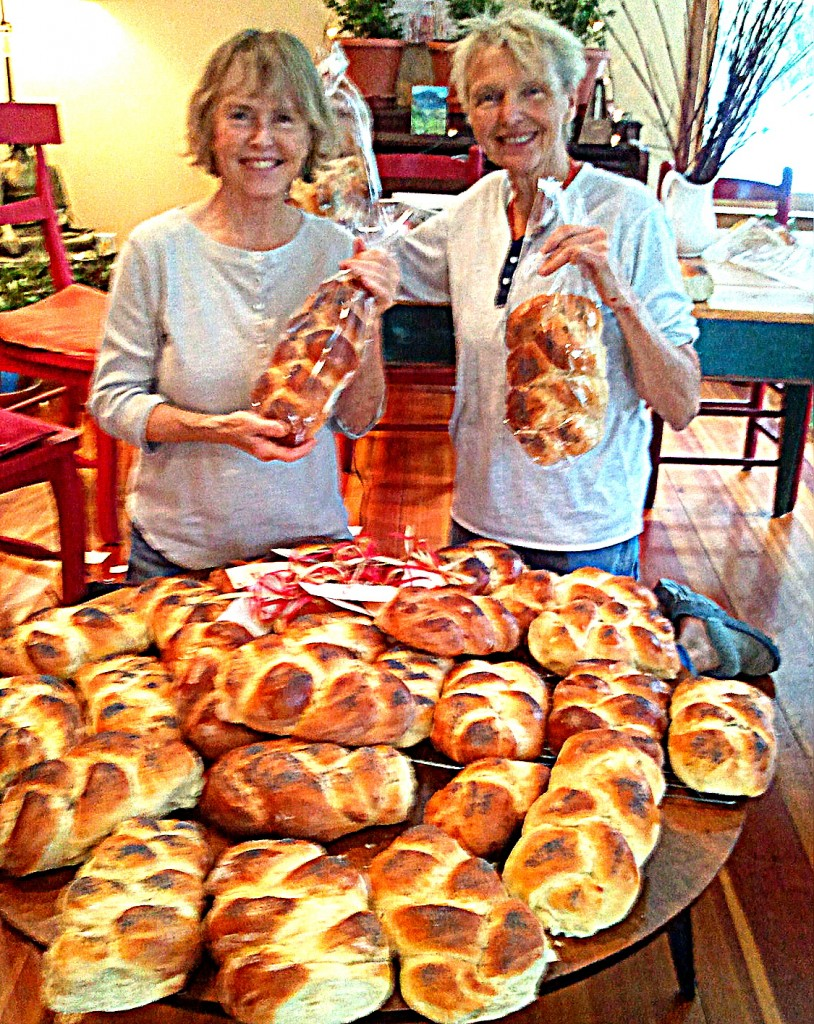Barb and Barb with loaves.
