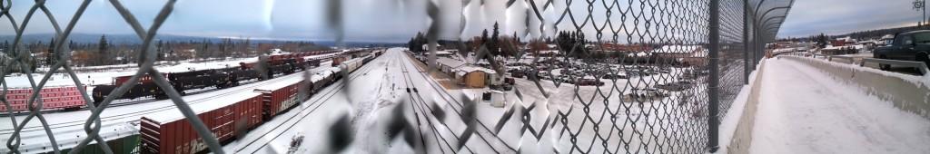 train tracks at Whitefish