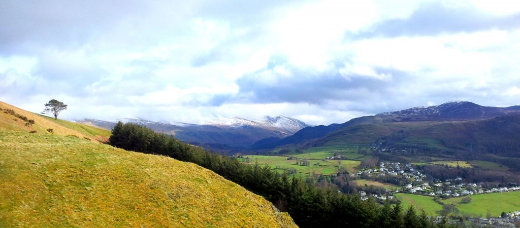 Look towards Keswick, Lakeland.