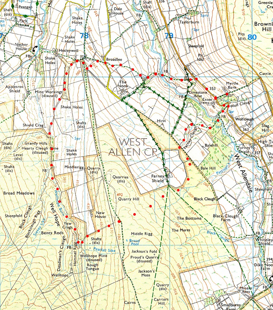 wellhope walk route