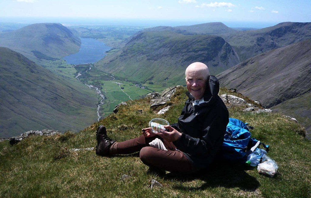 Eating lunch with Wastwater far in the distance.